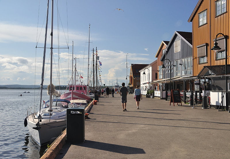 A walk along Tønsberg wharf in Norway