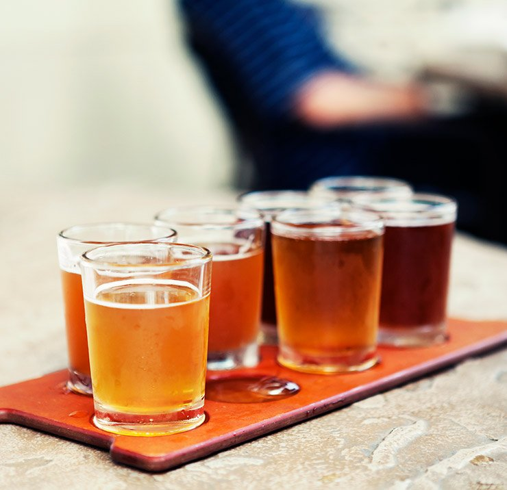 Beer sampler plate