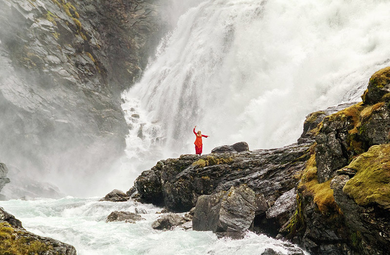 A famous waterfall in Norway