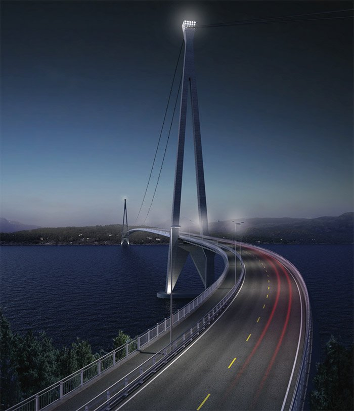 An architect's illustration of the new bridge