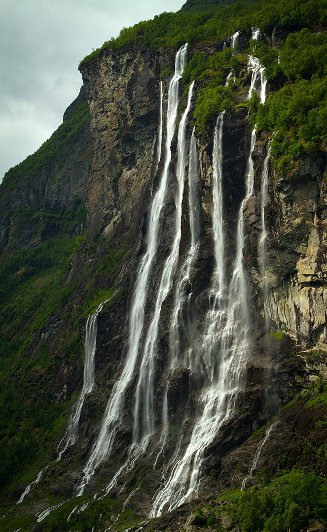Seven Sisters waterfall at the Geirangerfjord in Norway