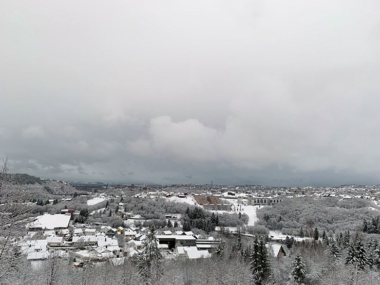A winter panorama of Trondheim, Norway