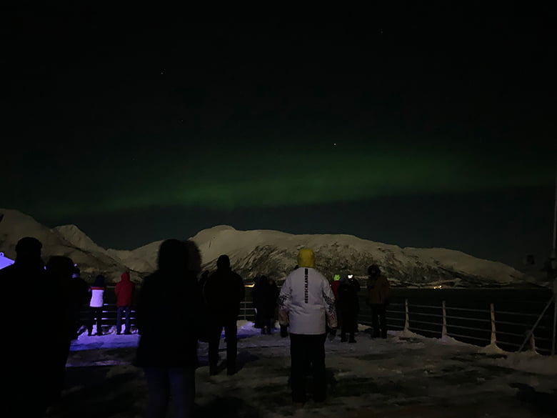 Aurora borealis in Tromsø, Norway