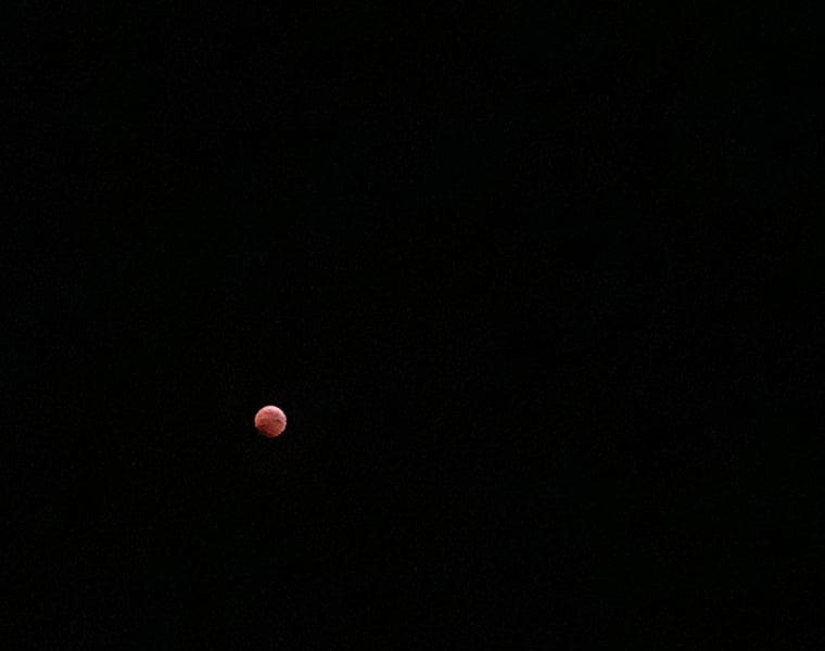 Blood moon from the deck of the Hurtigruten