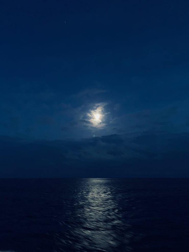 Blue hour between Kirkenes and Vardø