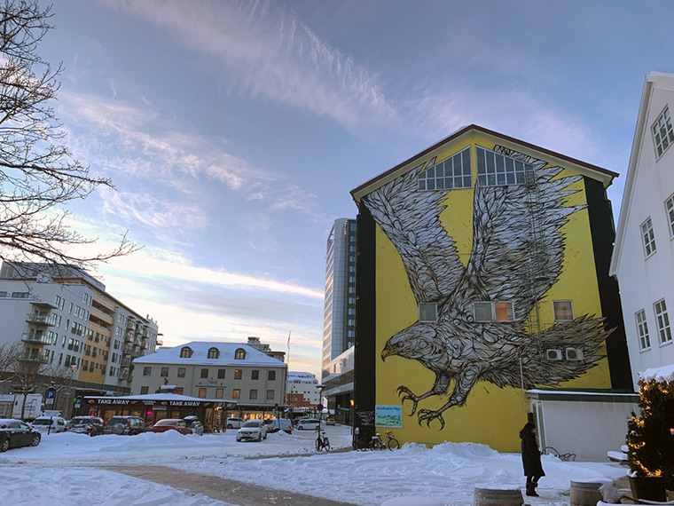 Some of the street art in Bodø, Norway