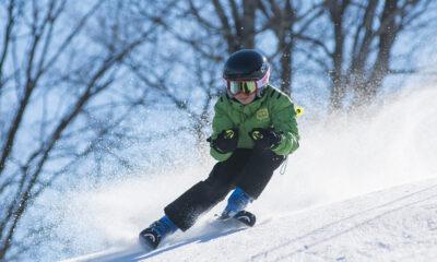 Boy skiing in Norway