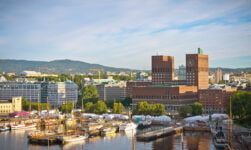 The green waterfront of Oslo, Norway