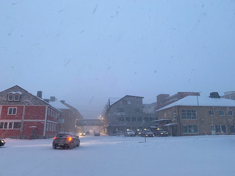 Hammerfest in a blizzard