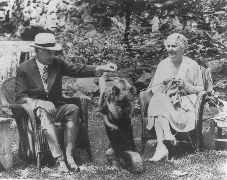 Herbert and Lou Hoover with Weejie