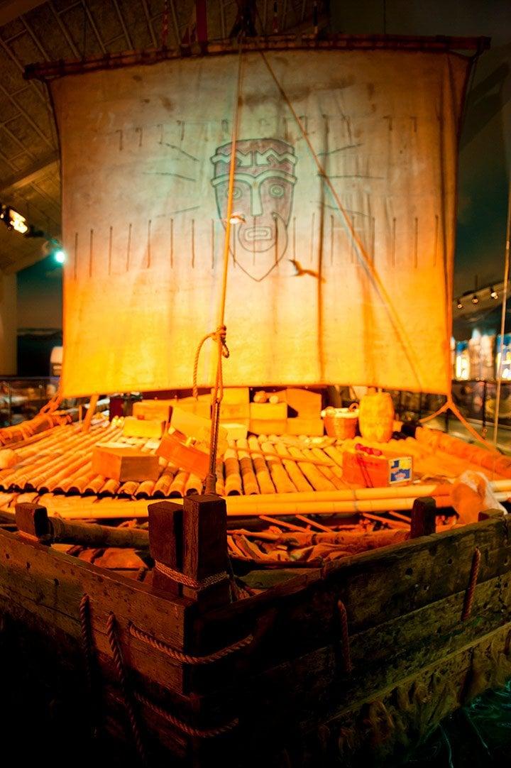 Thor Heyerdahl's Kon-Tiki raft in an Oslo museum