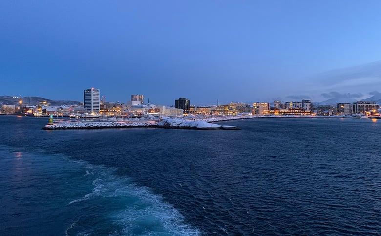 Leaving Bodø on the Hurtigruten