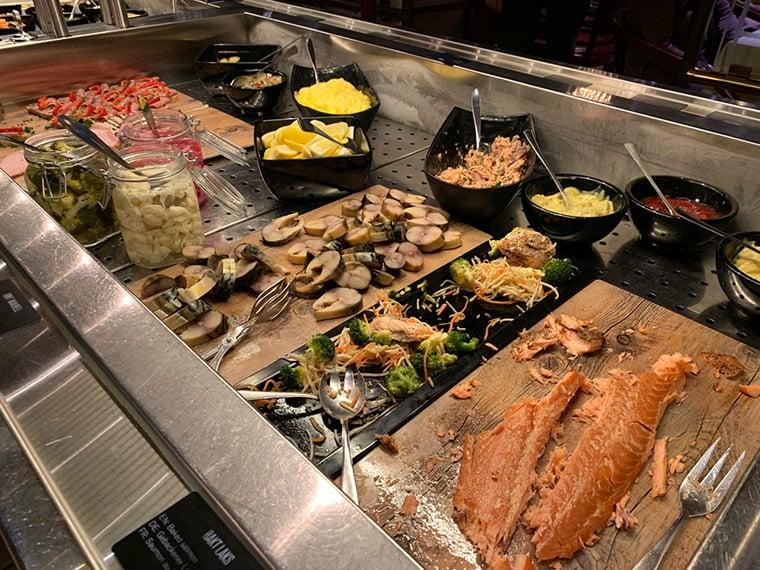 Hurtigruten lunch buffet