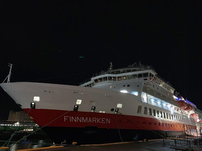 MS Finnmarken docked in Trondheim