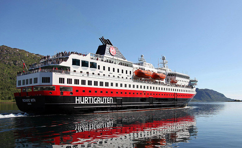 The refurbished MS Richard With in Norway