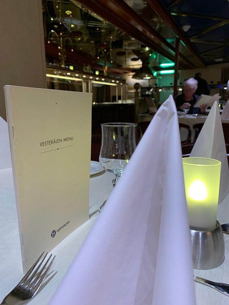 MS Vesterålen restaurant