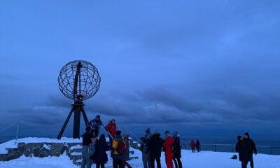 Nordkapp globe in the winter