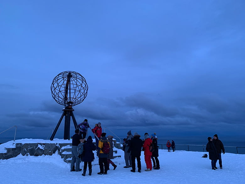 Nordkapp globe in the winter