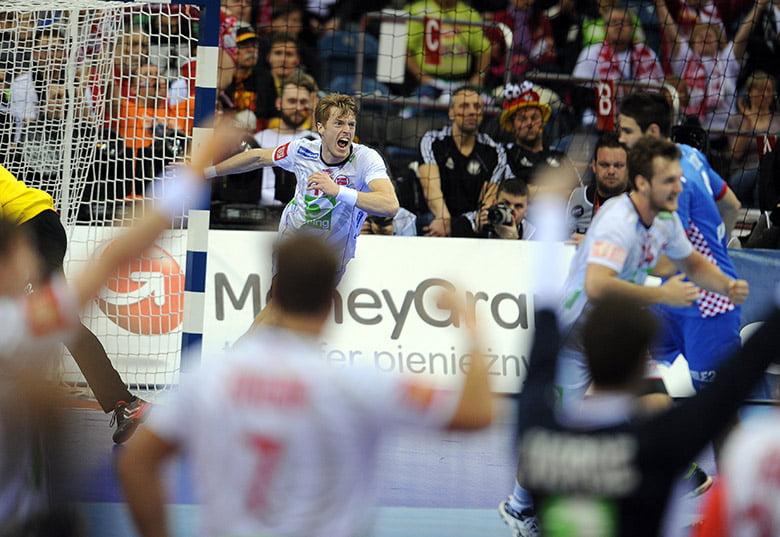 Norway playing Croatia at Handball