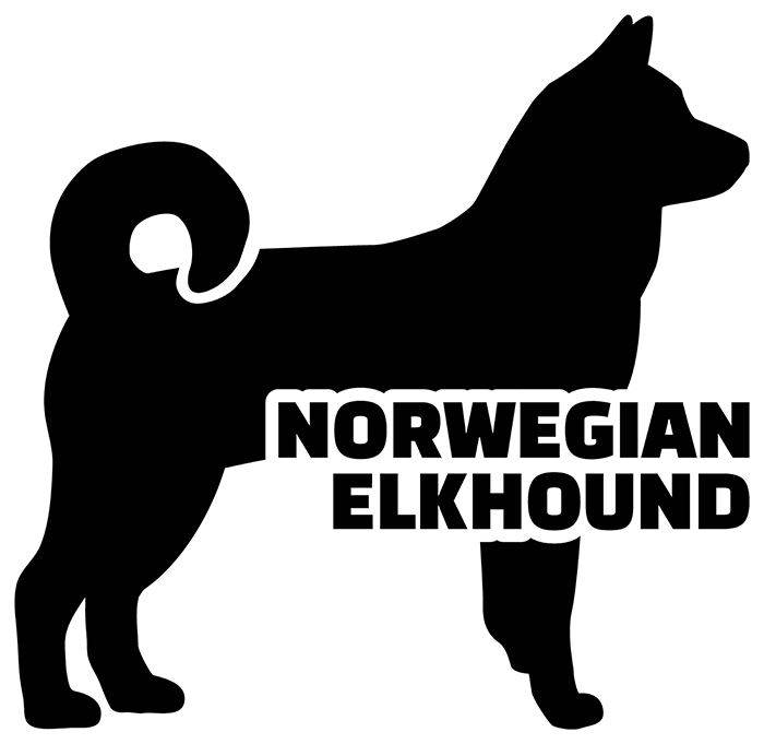 Silhouette of a Norwegian elkhound, the National Dog of Norway