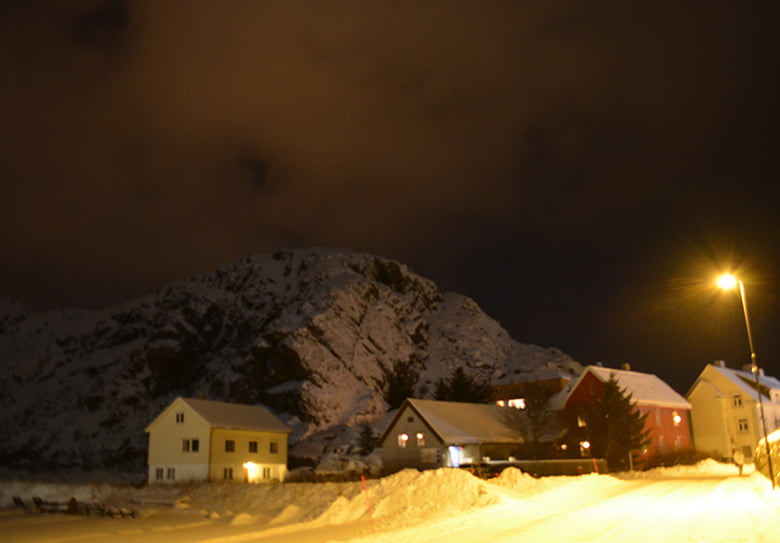 Stamsund in the winter snow
