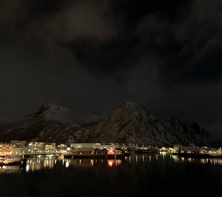 Svolvær in the snow