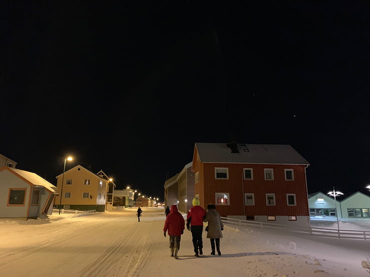 Vardø, Norway, in the snow