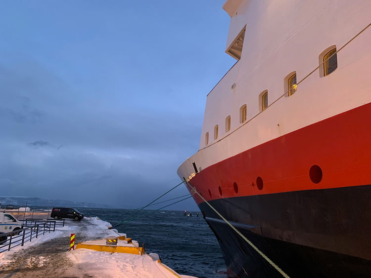 MS Vesterålen docked in Trondheim, Norway