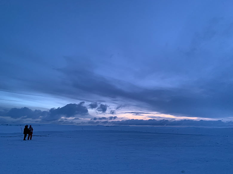 Winter landscape outside Nordkapp in northern Norway