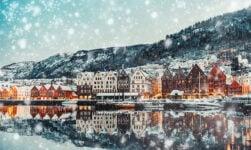 Bergen Norway in the winter