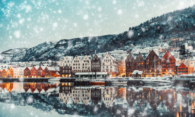 Bergen Norway in the winter