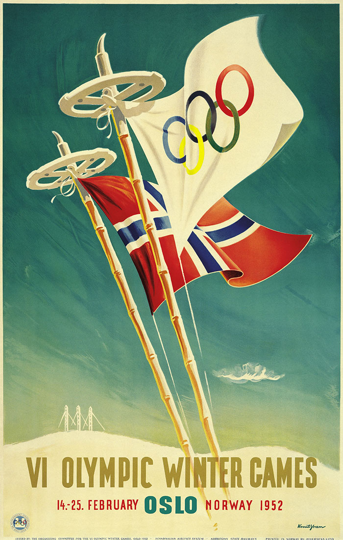 Oslo 1952 Olympic Games poster