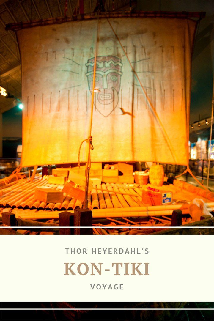 The Norwegian explorer Thor Heyerdahl's Kon-Tiki voyage