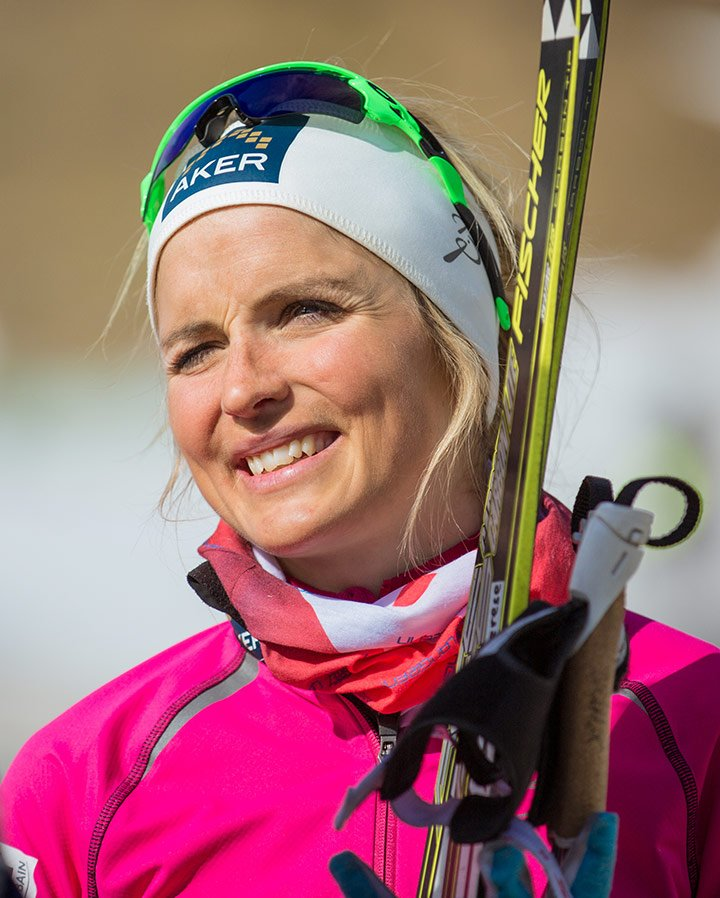 The Norwegian cross-country skier Therese Johaug