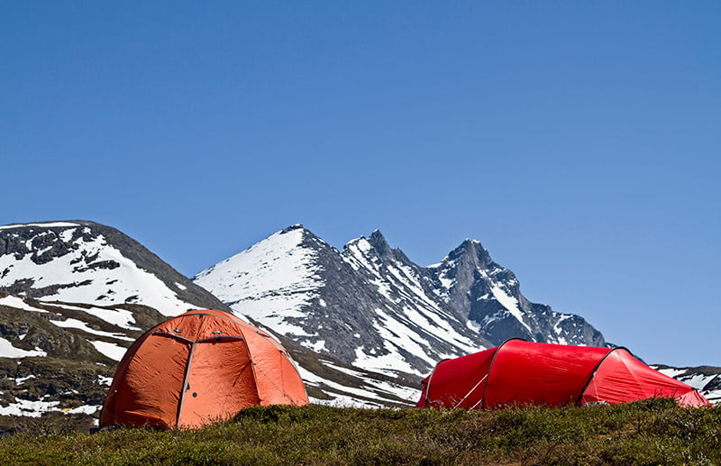 Wild camping in Jotunheimen National Park in central Norway