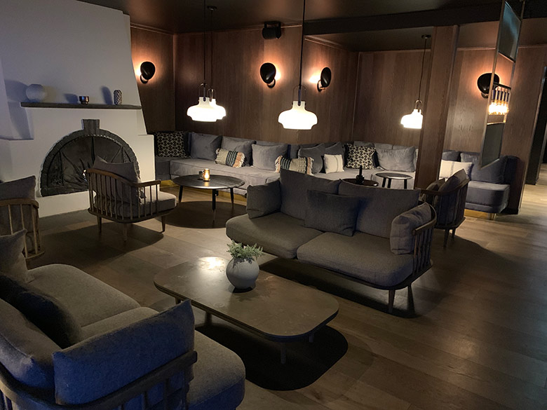 Lounge area at the Funken Lodge in Longyearbyen