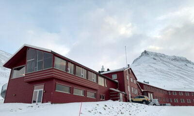 The spectacular setting of Funken Lodge in Longyearbyen