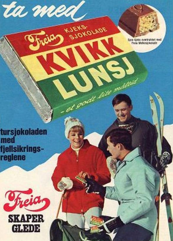 Historic Kvikk Lunsj outdoor poster