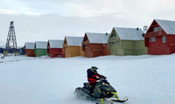 Longyearbyen town on Svalbard