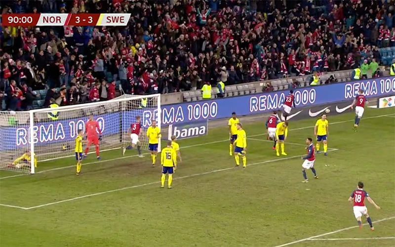 Norway v Sweden in Euro 2020 qualifier