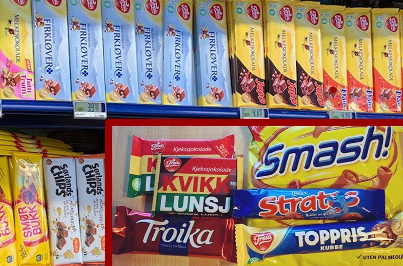 Norwegian chocolate selection