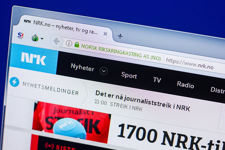 NRK Norway website
