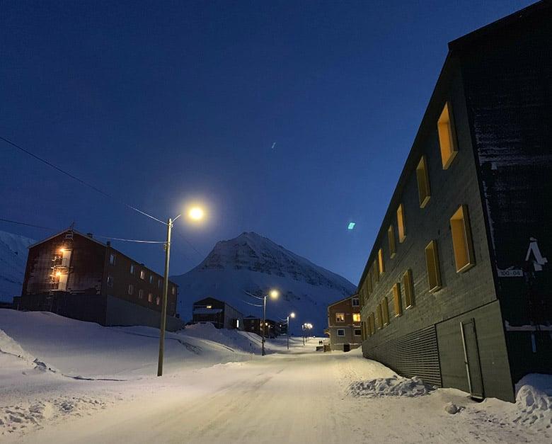 Nybyen neighbourhood in Longyearbyen, Svalbard