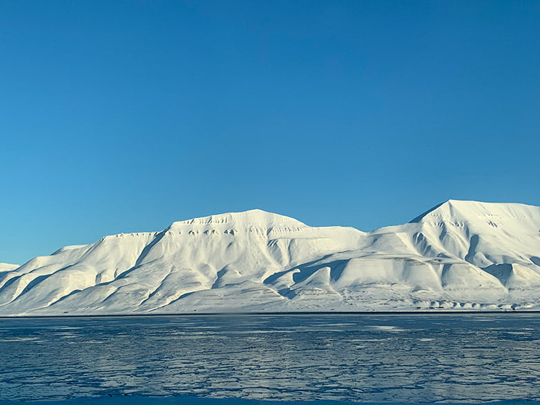The spectacular mountains of the Svalbard achipelago