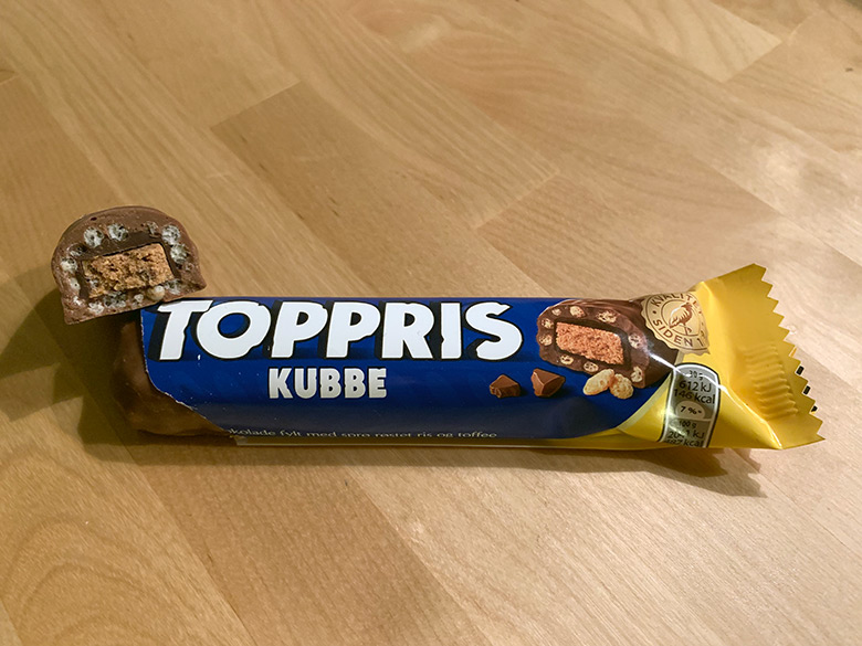 Toppris Kubbe chocolate bar