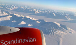 View over Svalbard from SAS plane