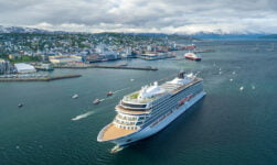 Christening of the Viking Sky cruise ship in Tromsø, Norway
