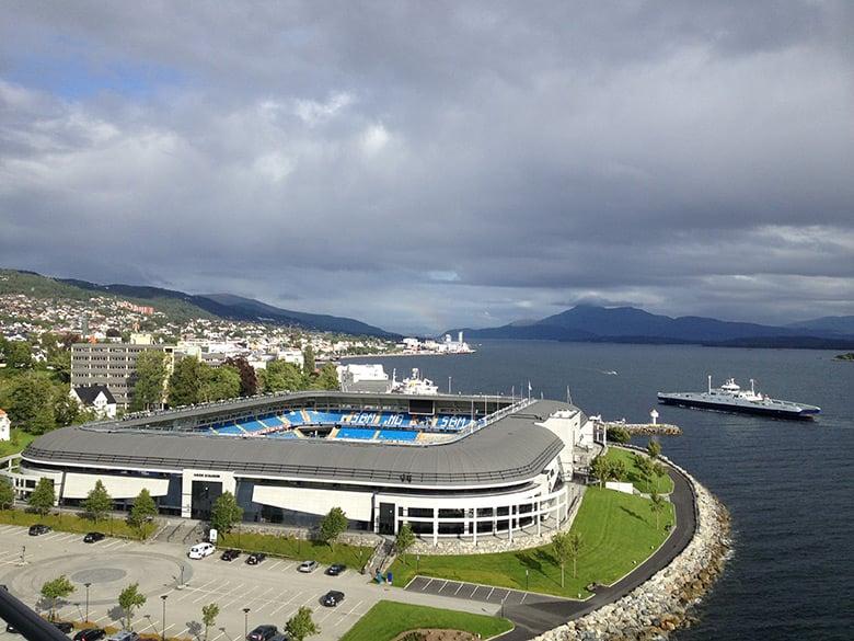 Aker Stadion on the coastline of Molde