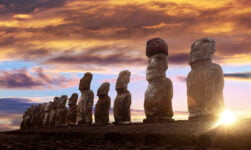 Famous statues from Easter Island
