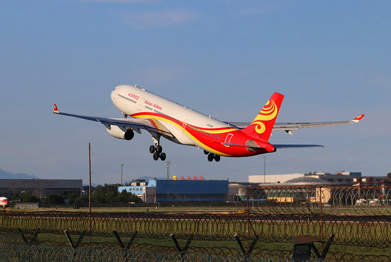 A Hainan Airlines jet